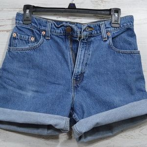 Vintage Levis 550 High Waisted Jean Shorts Size 9